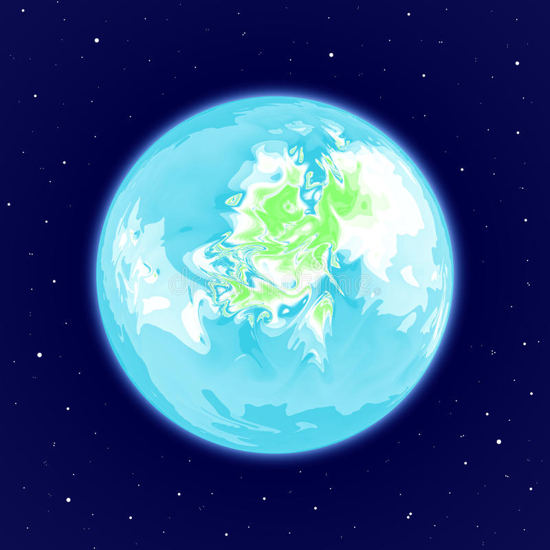 Abstract Earth-like Planet In Space Royalty Free Stock Images