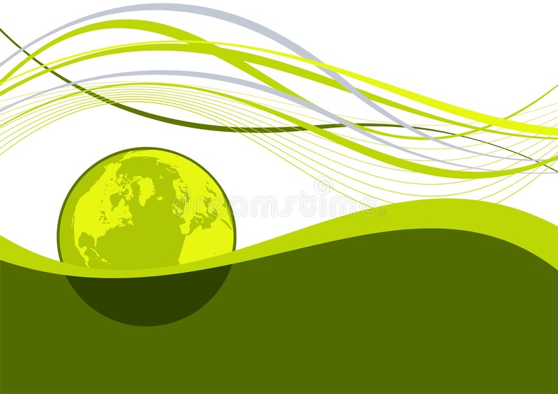 Abstract earth wavy lines royalty free illustration