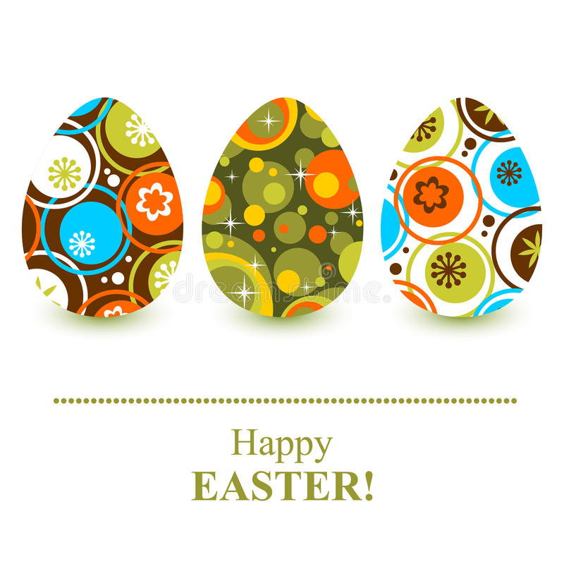 Free Abstract Easter Eggs Stock Photography - 68622252
