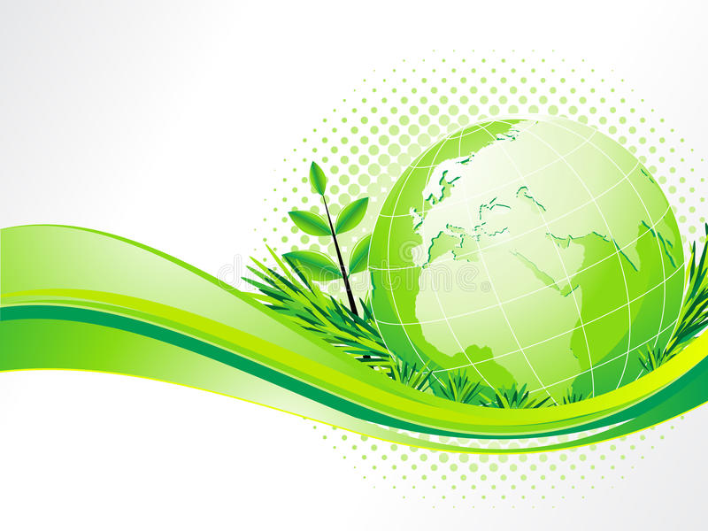 Download Abstract Eco Background With Globe Stock Vector - Image: 24559798