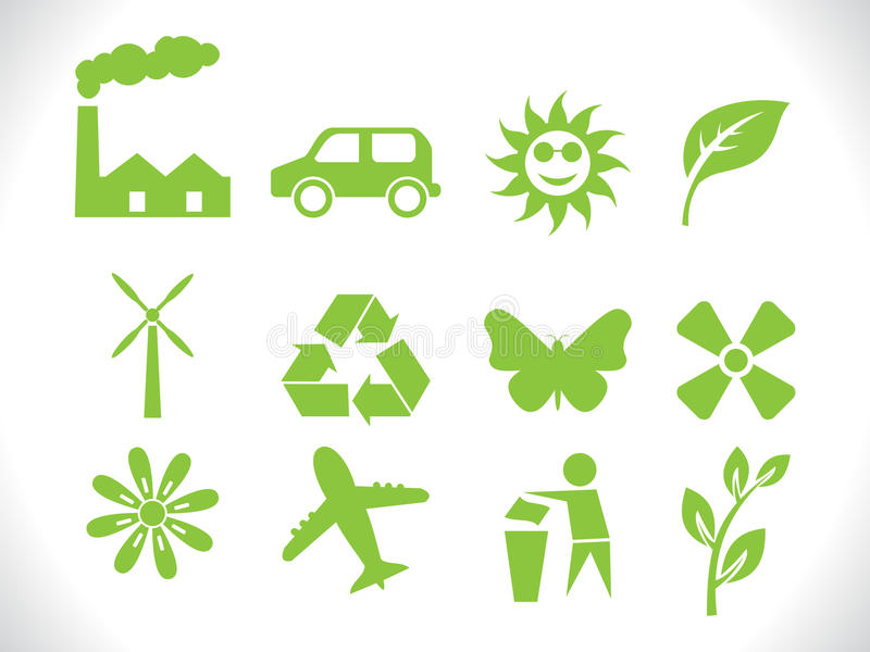 Abstract Eco Icons Stock Photography