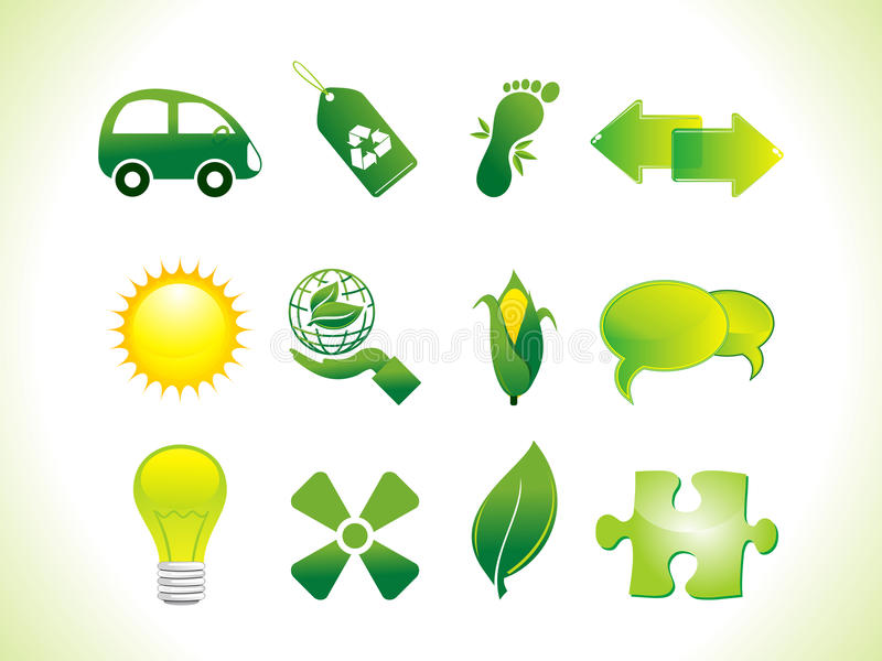 Download Abstract eco icons stock vector. Image of charging, recycle - 22375815