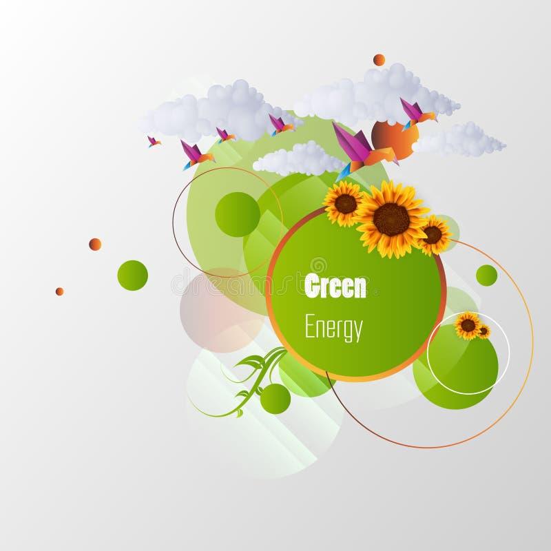 Abstract Eco-Illustratieontwerp vector illustratie