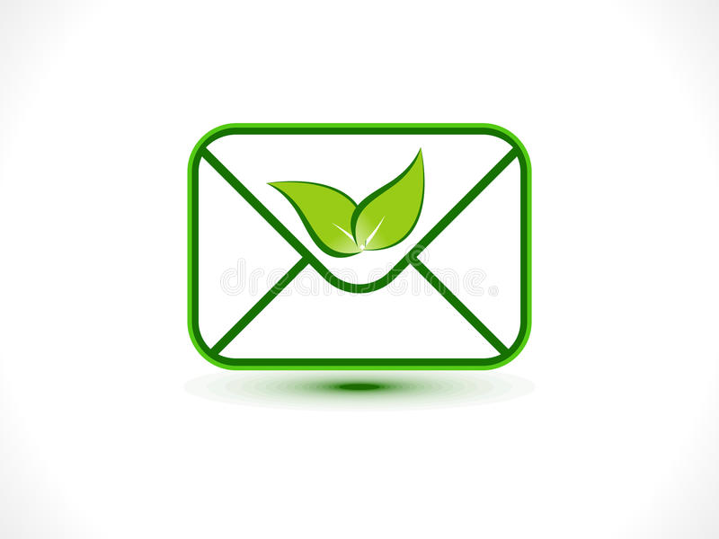 Abstract eco mail icon royalty free illustration