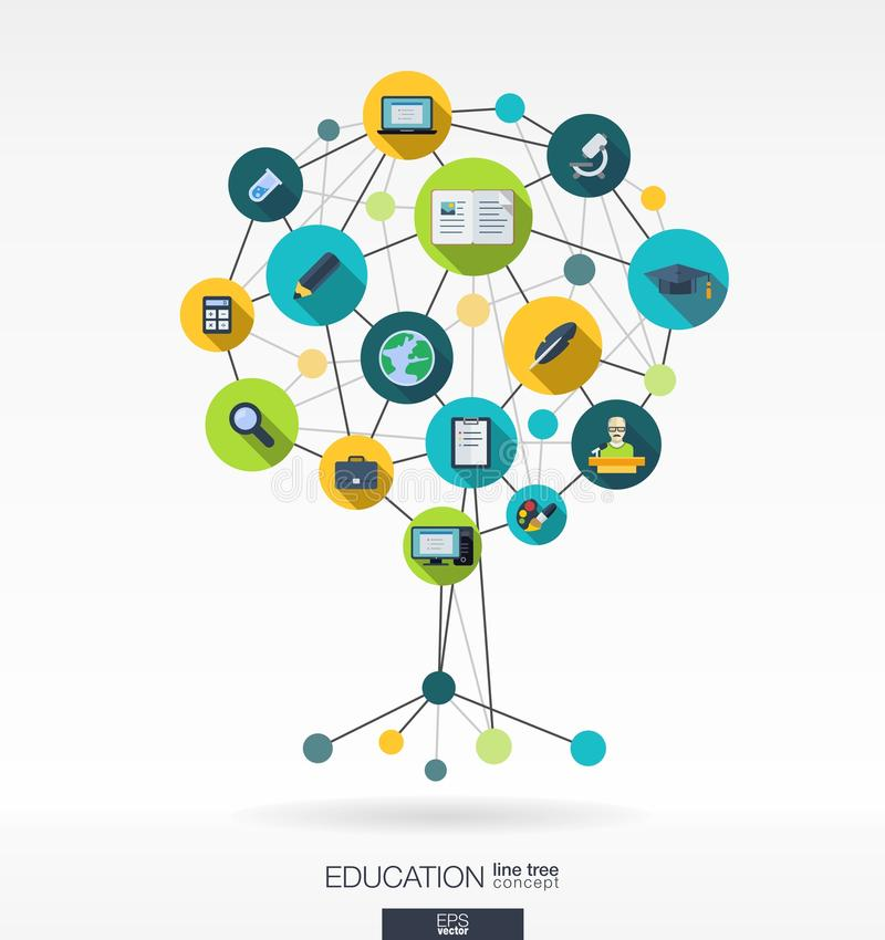 Abstract education background. Growth tree concept royalty free illustration