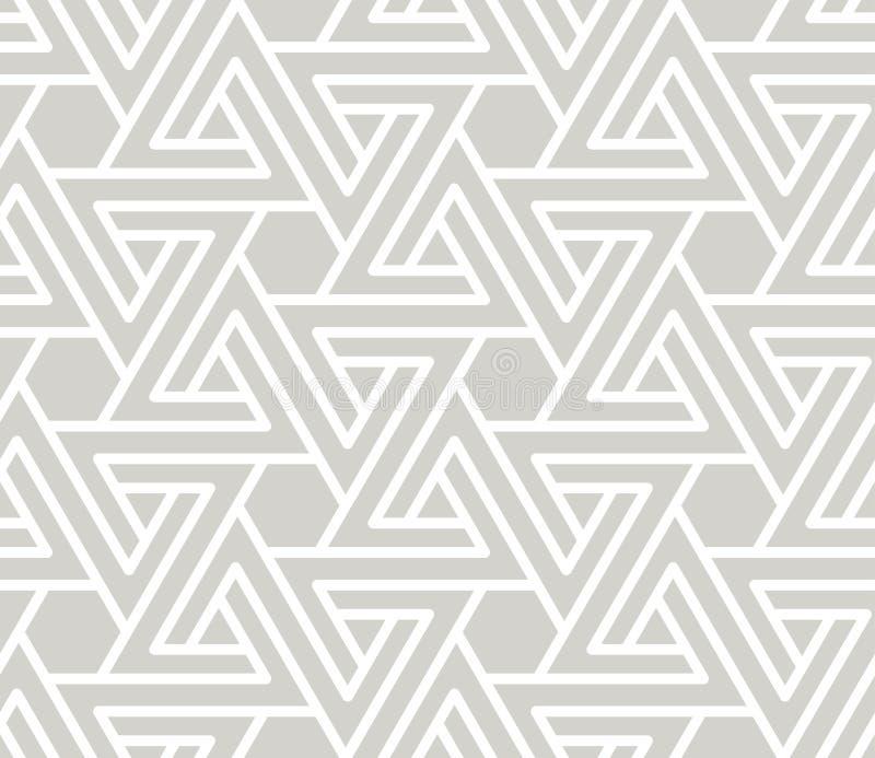 Abstract eenvoudig geometrisch vector naadloos patroon met witte lijntextuur op grijze achtergrond Lichtgrijze modern vector illustratie