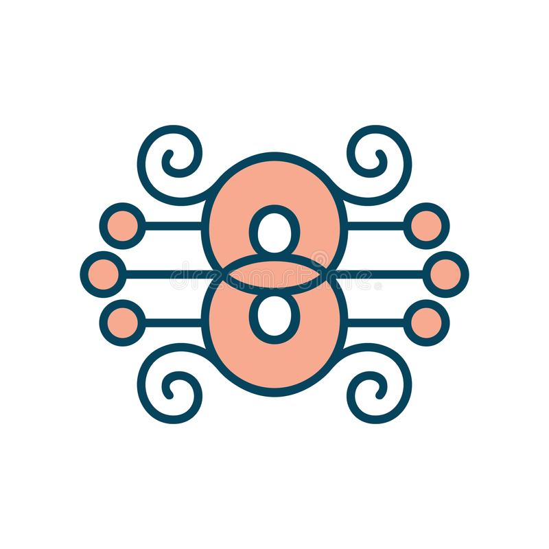 Number 8 vector sign royalty free illustration