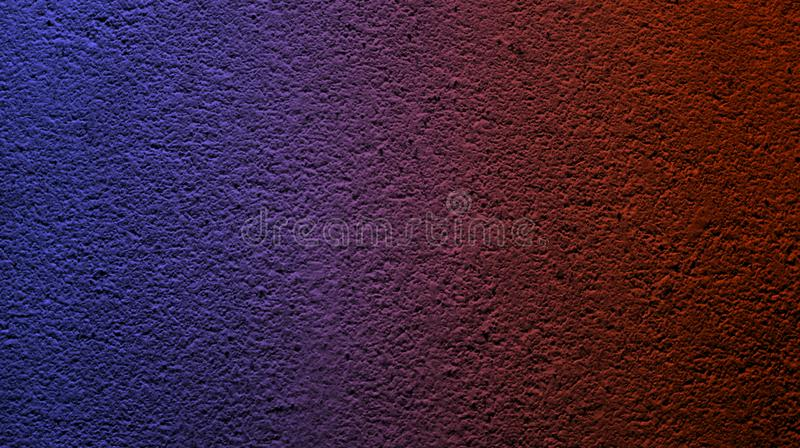 Abstract electric blue ruby red color with wall rough dry texture background. stock images