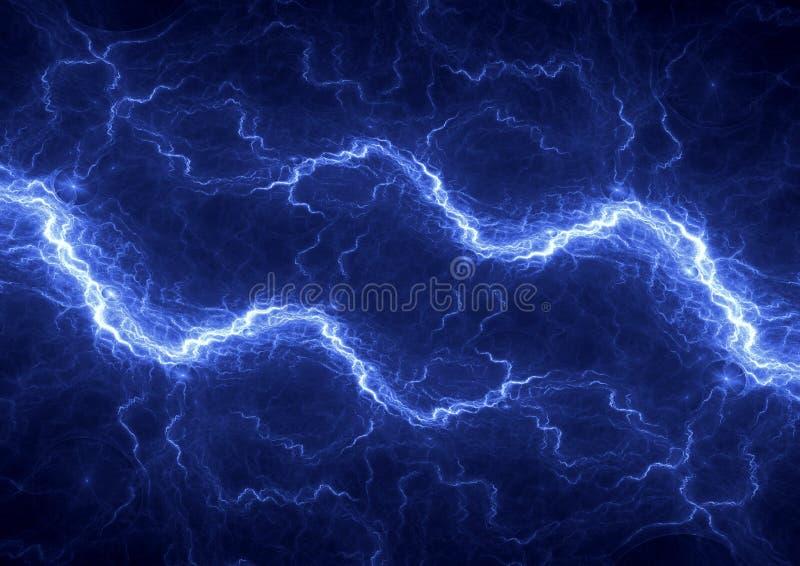 Abstract electric lightning. Blue plasma, abstract electric lightning vector illustration