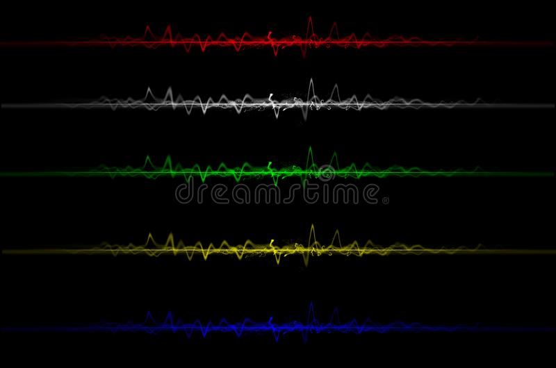 Abstract electric wave modern warfare stock photography