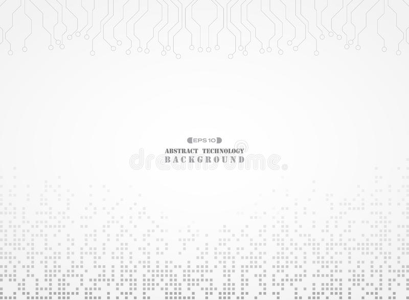 Abstract of electronic background digital gray color pattern stock illustration