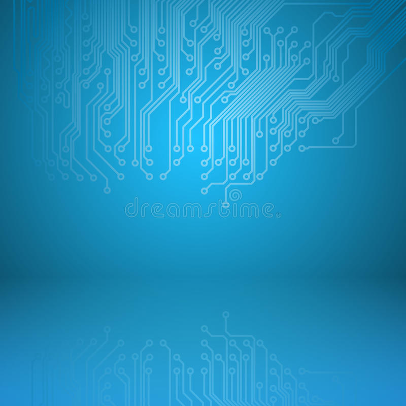 Abstract electronics blue background vector illustration