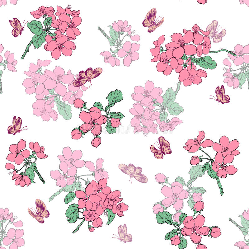 Abstract Elegance Seamless pattern with floral background. royalty free stock photography