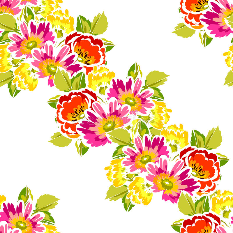 Abstract elegance seamless pattern with floral background. Vintage seamless pattern with flowers for wedding, marriage, bridal, birthday, Valentine's day stock illustration