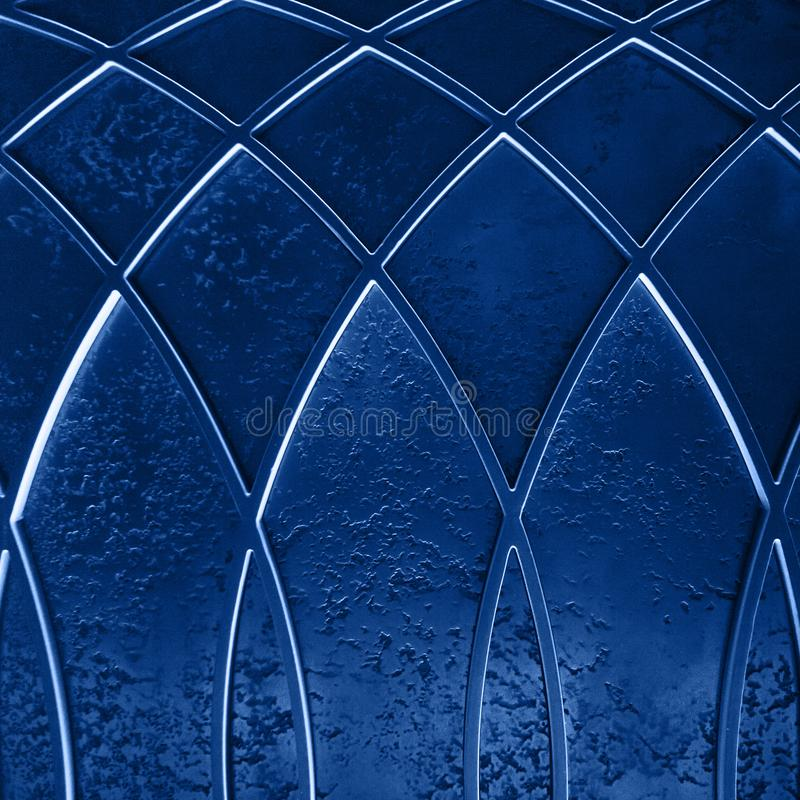 Abstract art deco geometric background. Abstract elegant art deco geometric ornamented blue textured background stock images
