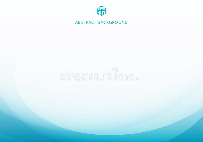 Abstract elegant blue light curve template on white background with copy space vector illustration