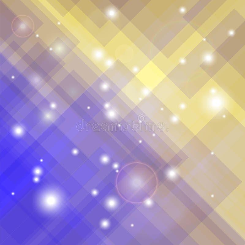 Abstract Elegant Blue Yellow Background stock illustration