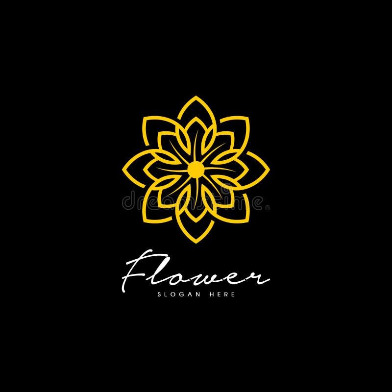 Abstract elegant flower logo icon vector design. Concept design template royalty free illustration