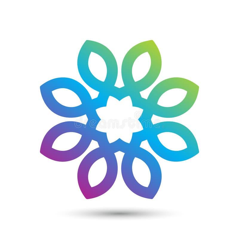 Abstract elegant flower logo icon vector design. Universal creative premium symbol. Graceful jewel vector sign stock illustration
