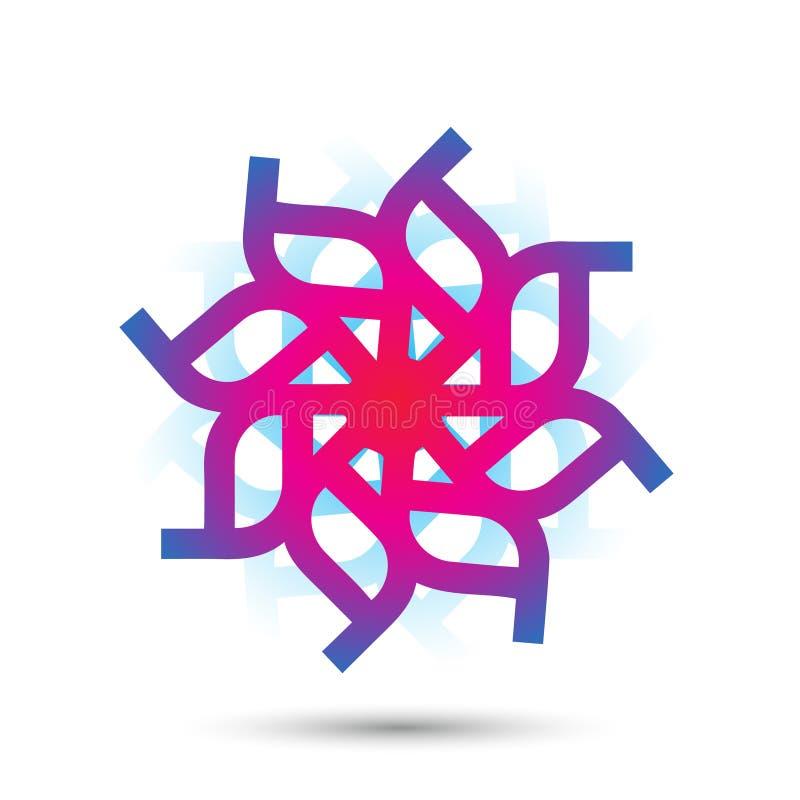 Abstract elegant flower logo icon vector design. Universal creative premium symbol. Graceful jewel vector sign royalty free illustration