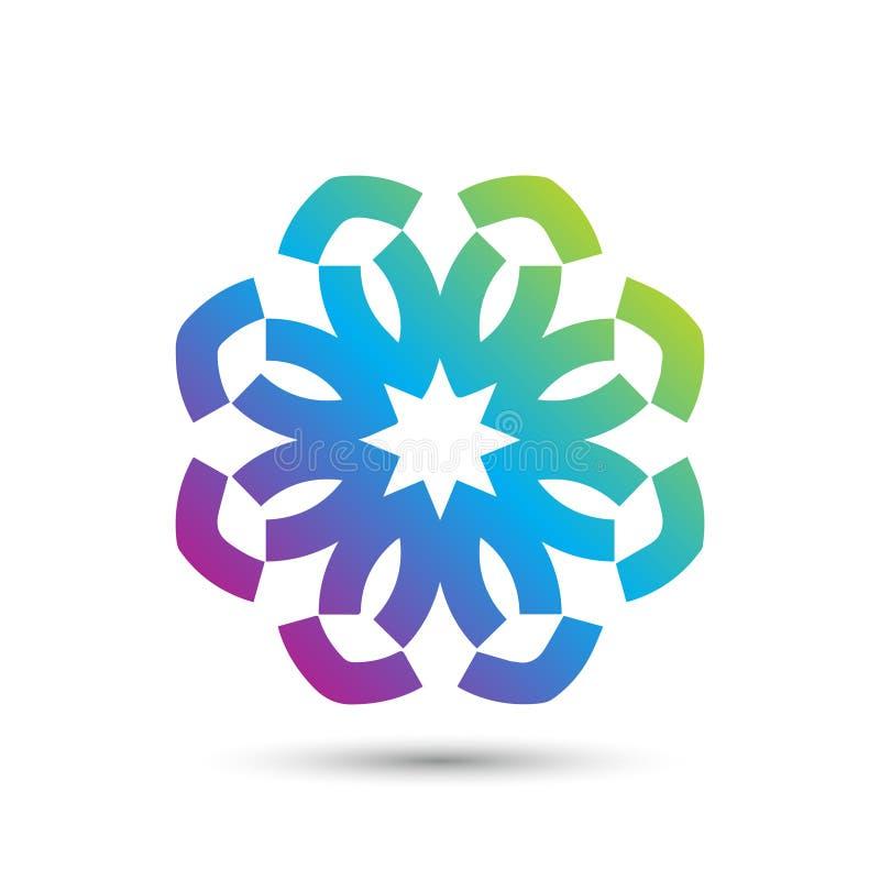 Abstract elegant het pictogram vectorontwerp van het bloemembleem Universeel creatief premiesymbool Bevallig juweel vectorteken royalty-vrije illustratie