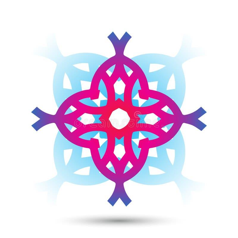 Abstract elegant het pictogram vectorontwerp van het bloemembleem Universeel creatief premiesymbool Bevallig juweel vectorteken stock illustratie