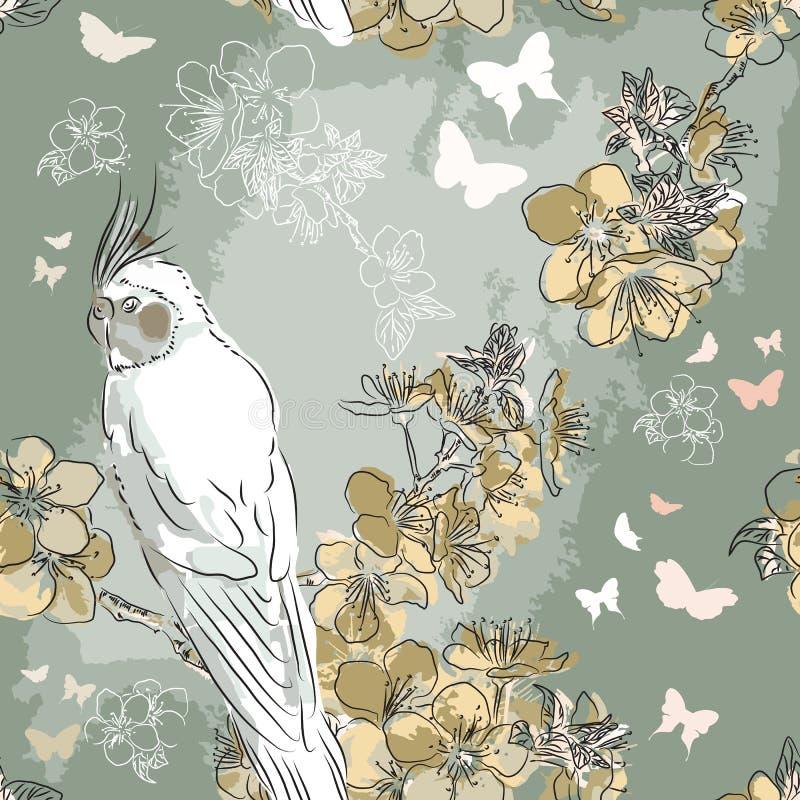 Abstract Elegantie Naadloos patroon stock illustratie