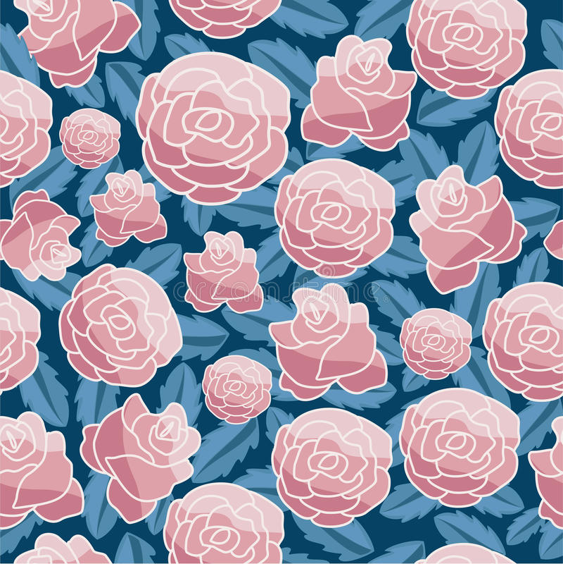Abstract Elegantie Naadloos patroon met bloemenachtergrond royalty-vrije illustratie