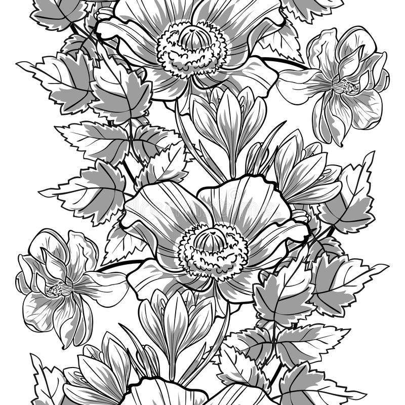 Abstract Elegantie Naadloos patroon met bloemenelementen vector illustratie
