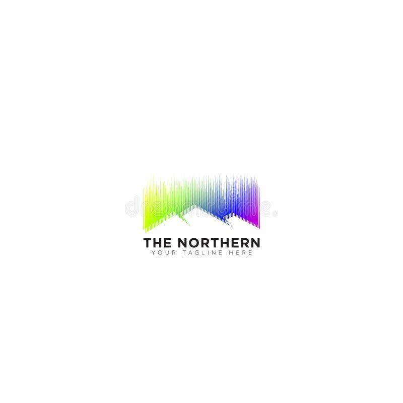 Abstract Embleem, de Noordelijke Lichten Logo Design royalty-vrije illustratie