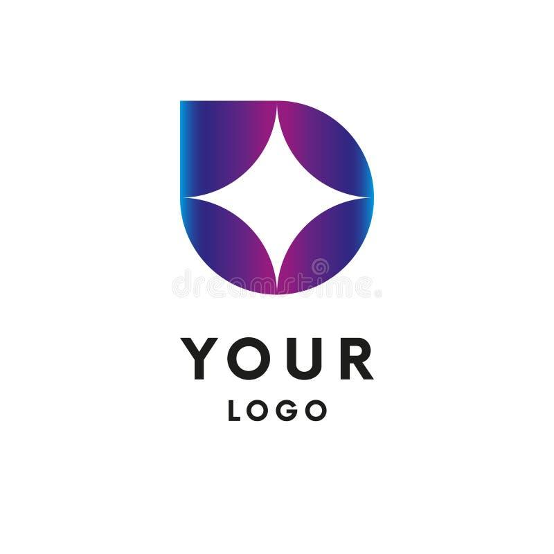 Abstract embleem De vorm van de ster logotype Vector vector illustratie