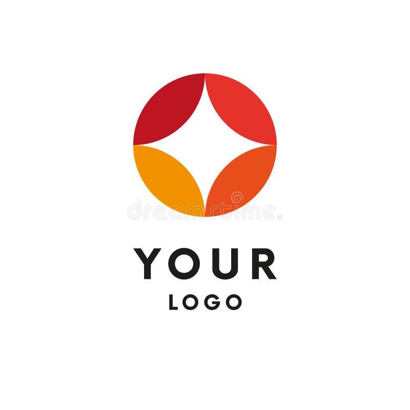 Abstract embleem De vorm van de ster logotype Vector royalty-vrije illustratie