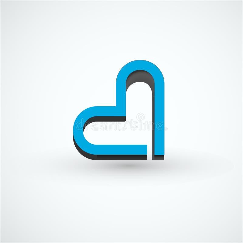 Abstract embleem in de vorm van een hart Materieel Ontwerp vector illustratie