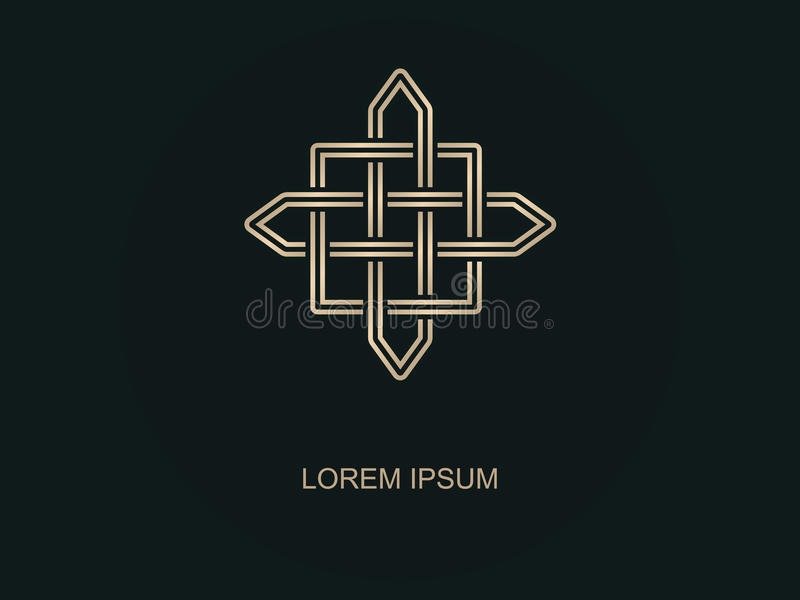 Abstract embleem Geometrisch Logo Design Minimale overzichtsstijl vector illustratie