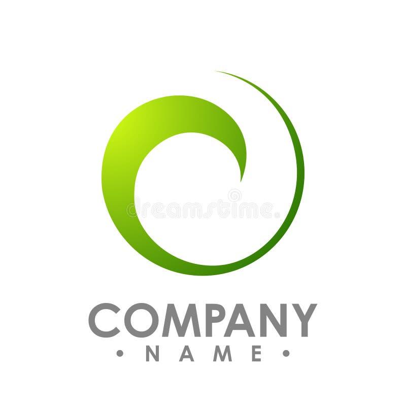 Abstract embleem voor bedrijf Collectief identiteitsontwerp Gr stock illustratie