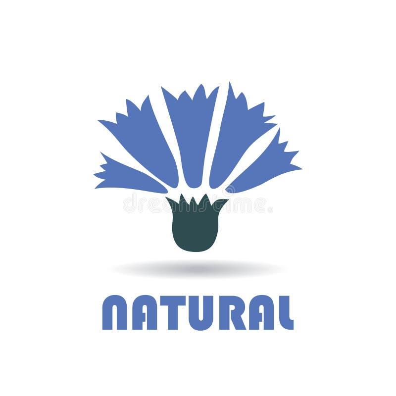 Abstract embleem voor bedrijf cornflower Kleuren Vectorico stock illustratie