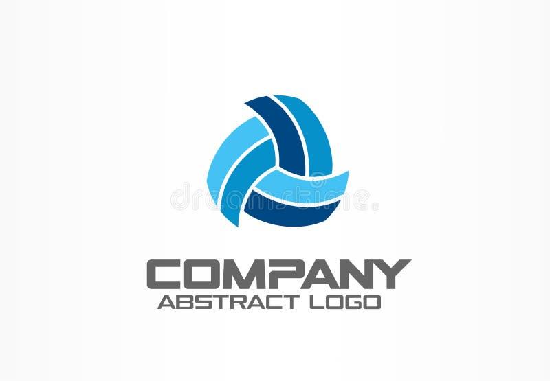 Abstract embleem voor bedrijf Het collectieve element van het identiteitsontwerp Technologie, Netwerk, distributie en logistiek royalty-vrije illustratie