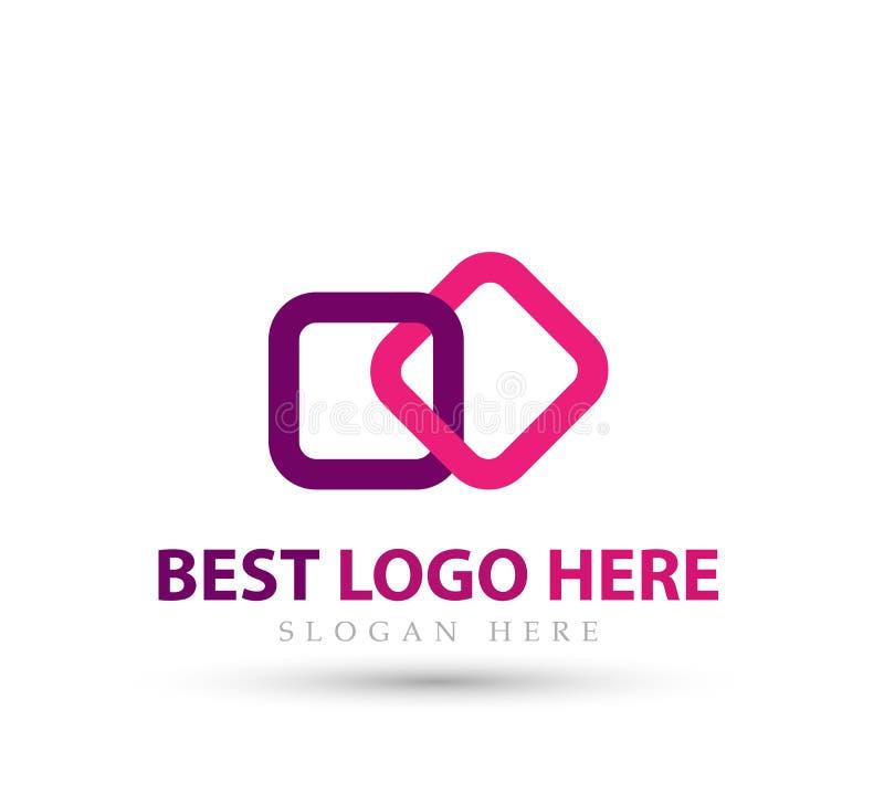 Abstract embleem voor bedrijf nieuwe in Industrie, financiën, het pictogram van het bank logotype idee vector illustratie