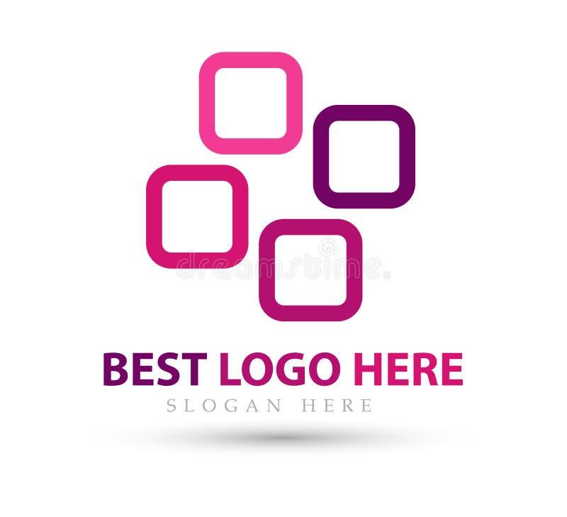 Abstract embleem voor bedrijf nieuwe in Industrie, financiën, het pictogram van het bank logotype idee stock illustratie