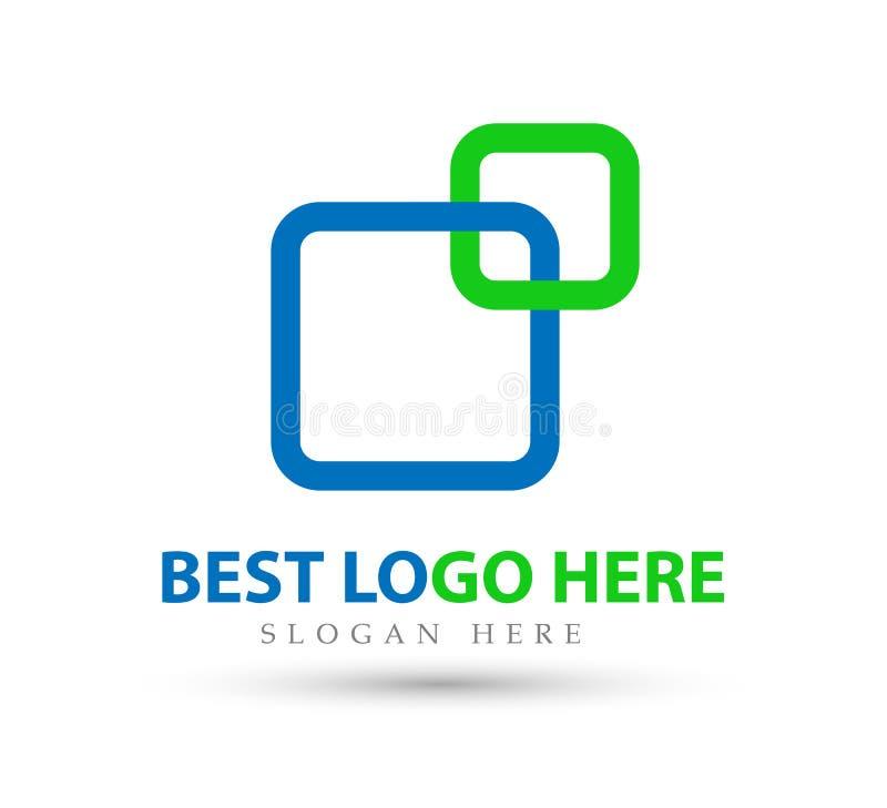 Abstract embleem voor bedrijf nieuwe in Industrie, financiën, het pictogram van het bank logotype idee royalty-vrije illustratie