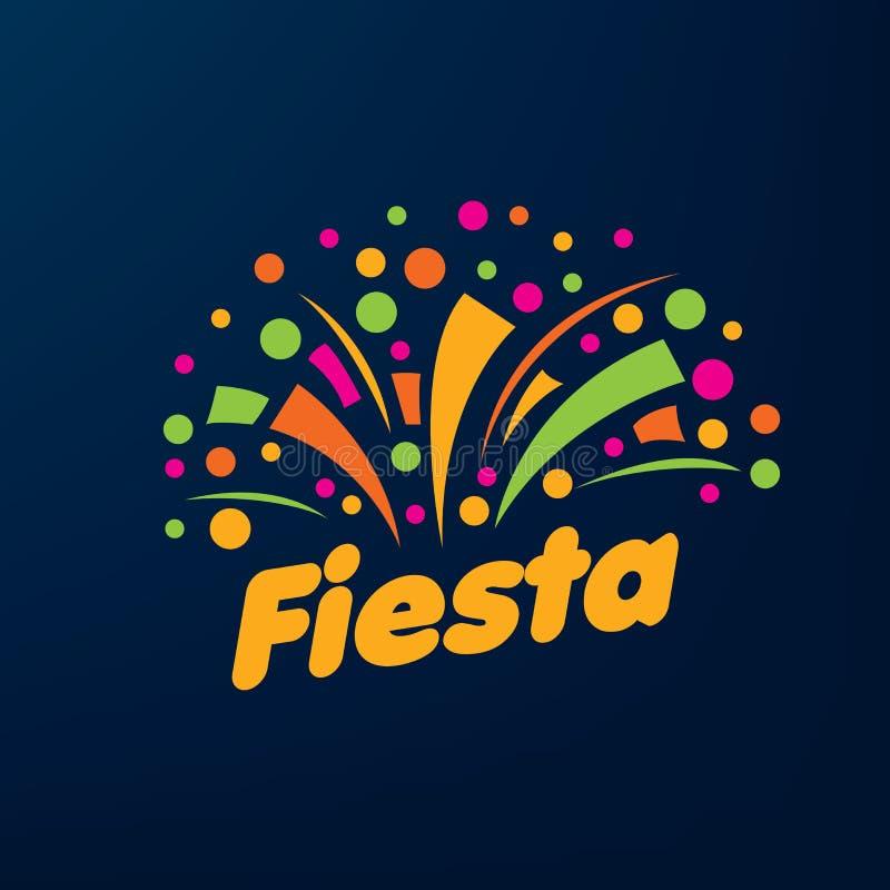Abstract embleem voor de Fiesta Vector illustratie royalty-vrije illustratie