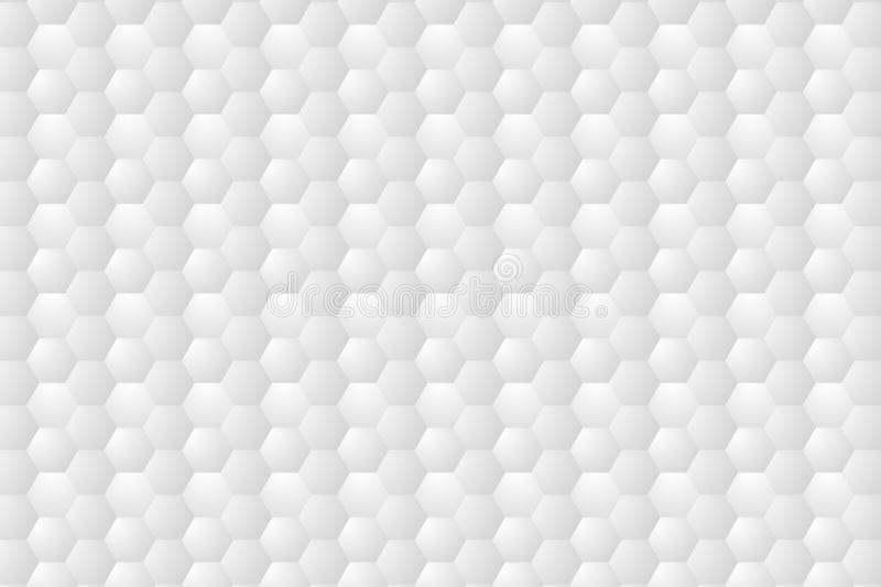 Abstract. Embossed Hexagon , honeycomb white Background. vector illustration eps10 stock illustration
