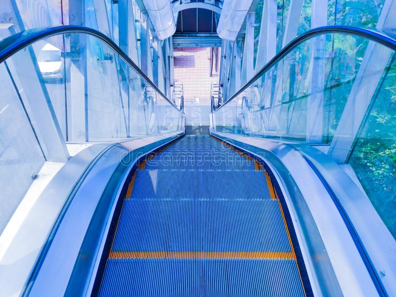 Abstract empty escalator royalty free stock photography