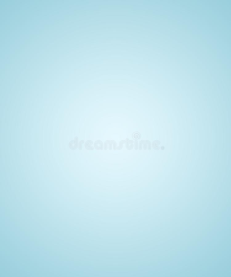 Abstract Empty Gradient background texture of Soft light blue wi vector illustration