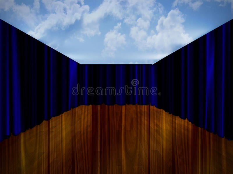 Abstract empty room stock photography