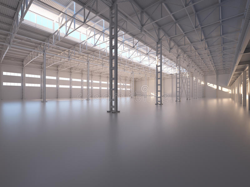Abstract Empty Warehouse Interior. Background royalty free stock photography