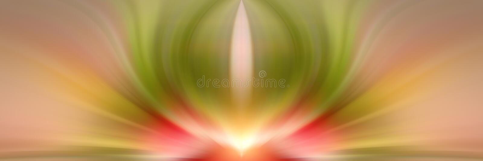Abstract energy flower. Red and green background. Abstract energy flower. Red and green background for text. Esoteric - concept royalty free stock photo