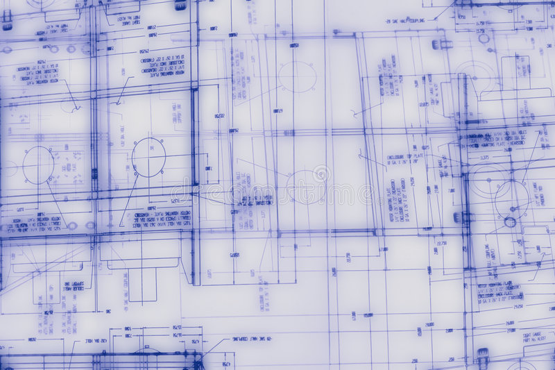 Abstract engineering drawing stock image