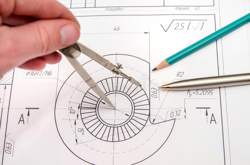 Abstract engineering drawings royalty free stock image