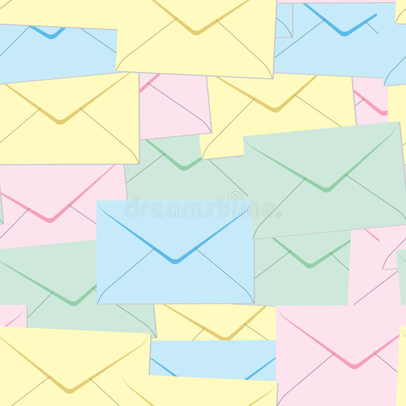 Abstract envelopes background.